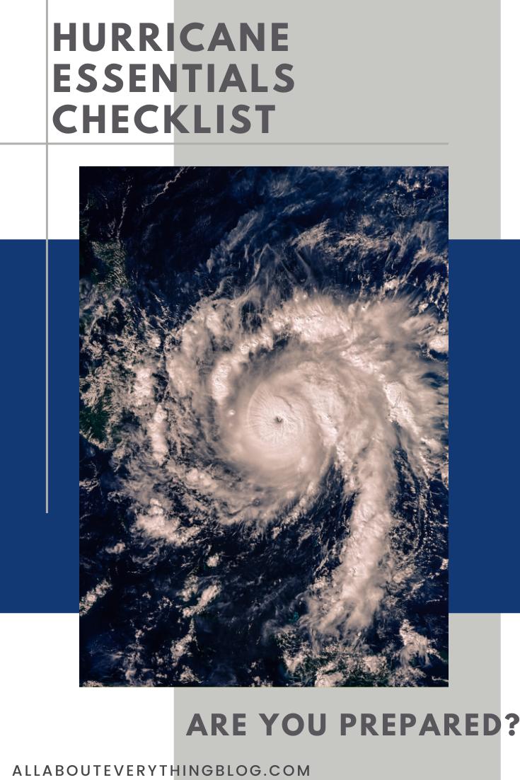 Hurricane Essentials Checklist In 2020 Emergency Preparedness Kit Emergency Preparedness Checklist Hurricane