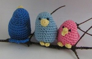 Kostenlose Häkelanleitung Amigurumi Kleine Vögel Vögel Häkeln