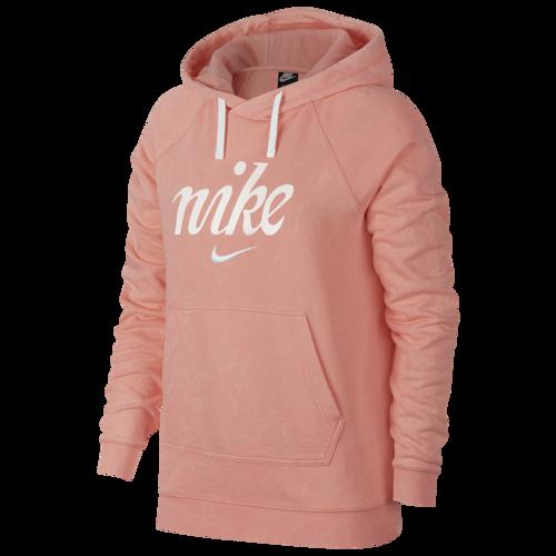 Nike Wash Pullover Hoodie  Coral Source by footlocker
