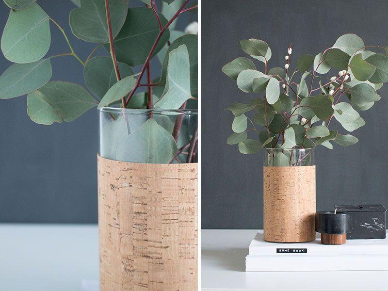Du liège pour un vase | Minimalist decor | DIY Home Decor ...