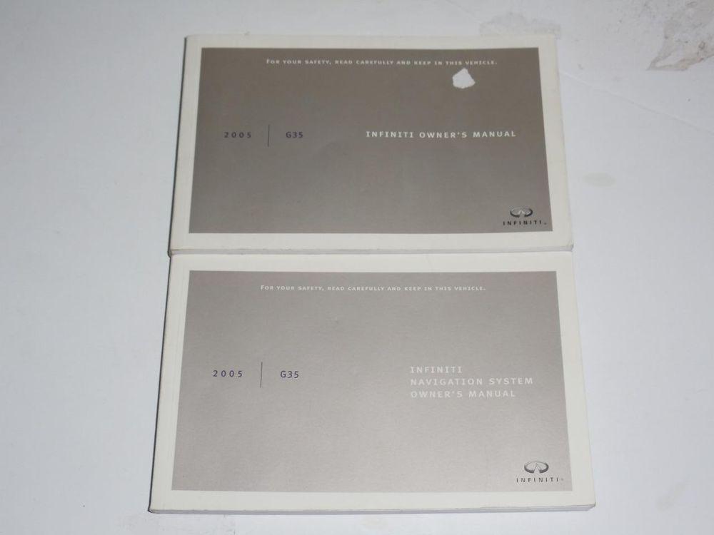 2005 Infiniti G35 Owners Manual Navigation System Manual Book Guide Set Owners Manuals Navigation System Manual
