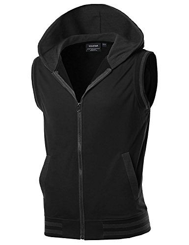 08c85fcbb281d Modern Color Block Drawstring Hood Zip Up Vest Black Charcoal Size S  Parkour Running Hoodies parkour apparel take flight hoodie parkour  sweatshirt parkour ...