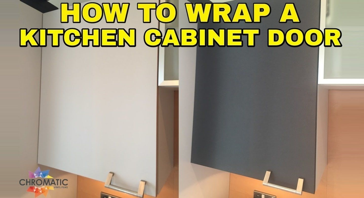 How To Wrap A Kitchen Cabinet Door Diy Vinyl Wrapping Tutorial