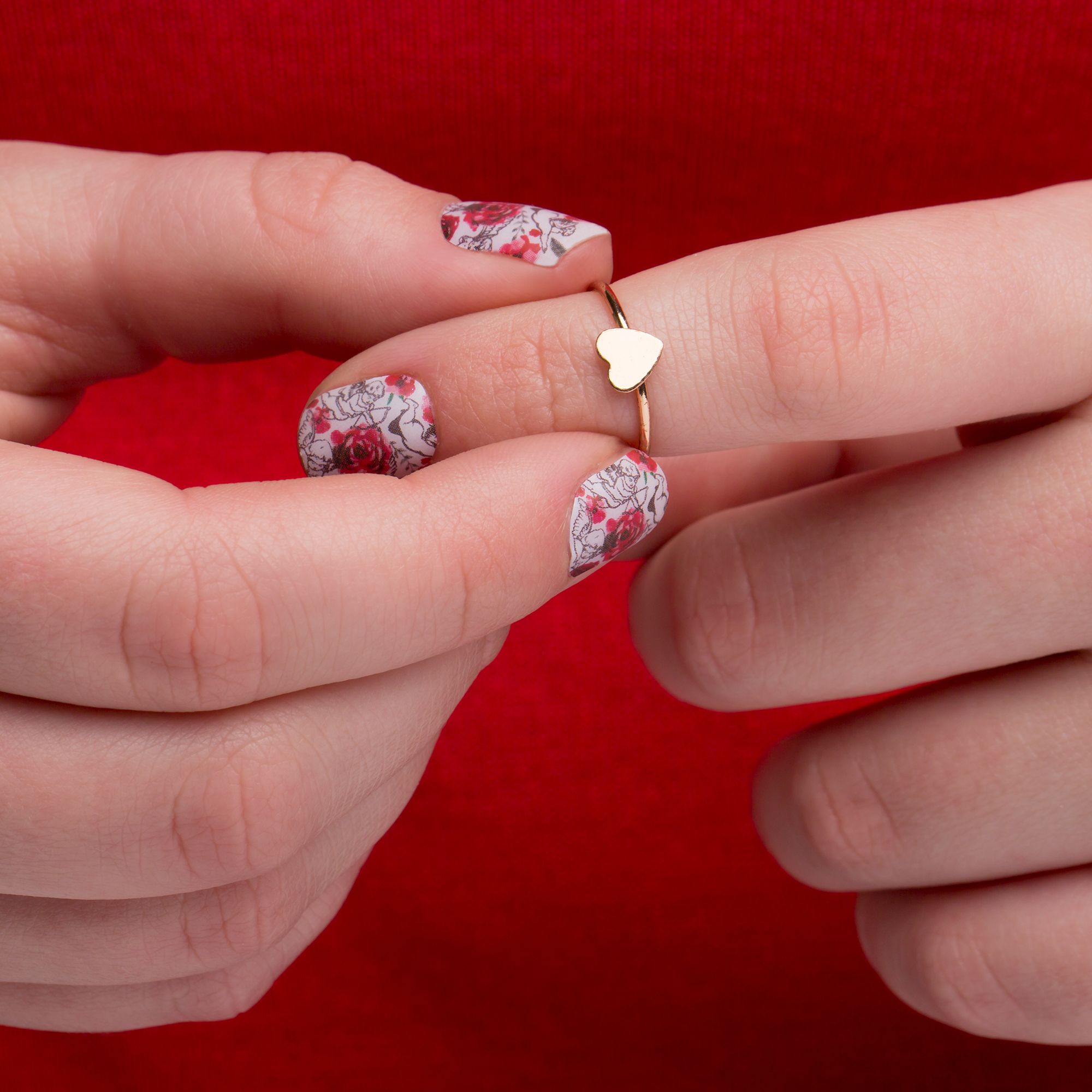 Oh My These Cupid And Roses Nails Are So Gorgeous Nails