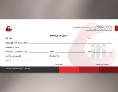 Check Out New Work On My Behance Portfolio Corporate Money Receipt Http Be Net Gall Voucher Design Receipt Template Certificate Of Participation Template