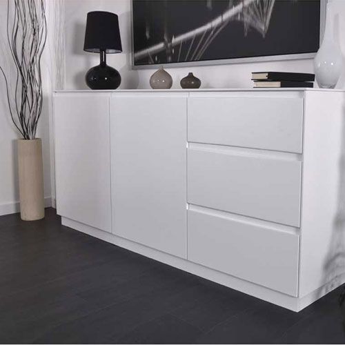 soldes buffet design blanc laqu rom o axe design prix promo soldes decoclico ttc au. Black Bedroom Furniture Sets. Home Design Ideas