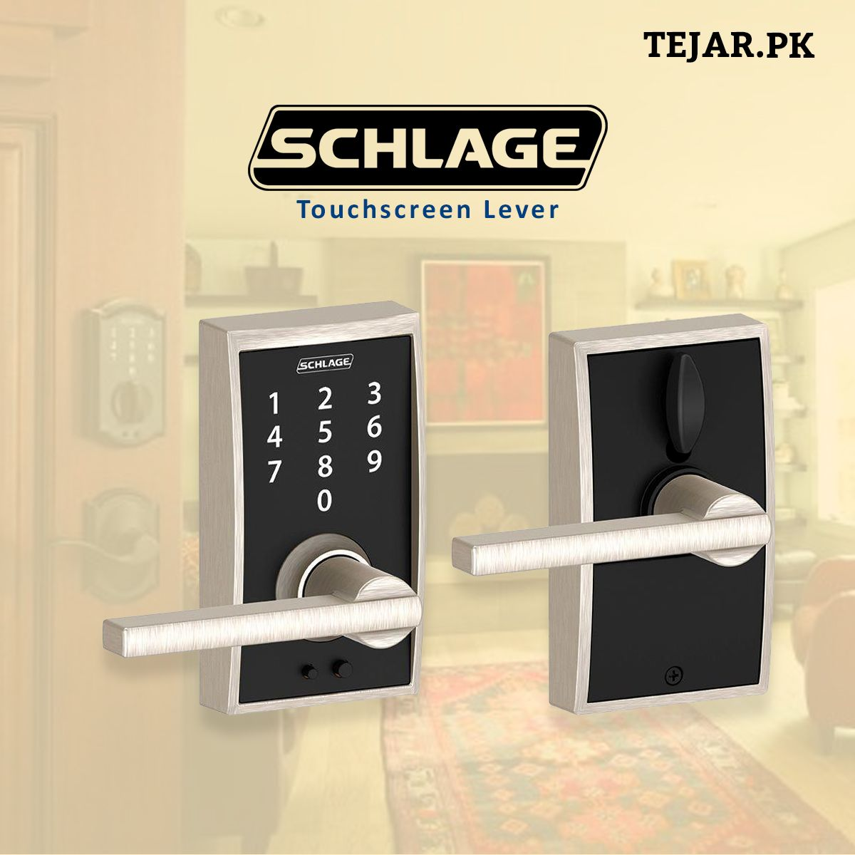Schlage Touch Keyless Touchscreen Lever with Century Trim