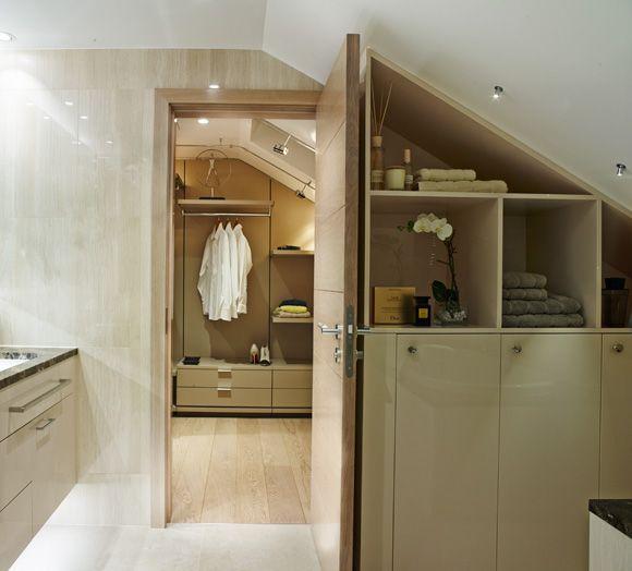 Walk In Wardrobe Connected To Bathroom And Bedroom Attic
