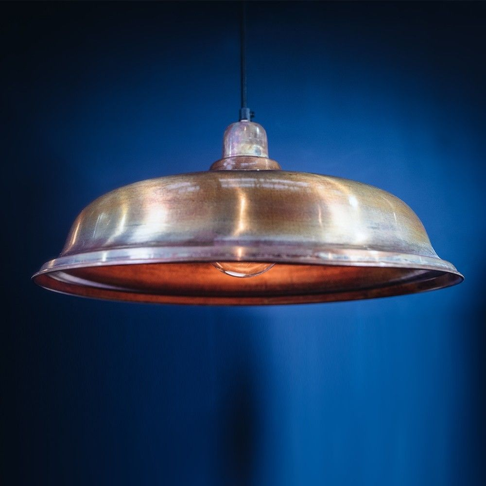 Aldgate Large Single Pendant Light In Burnished Copper CCLGE - Large single pendant light