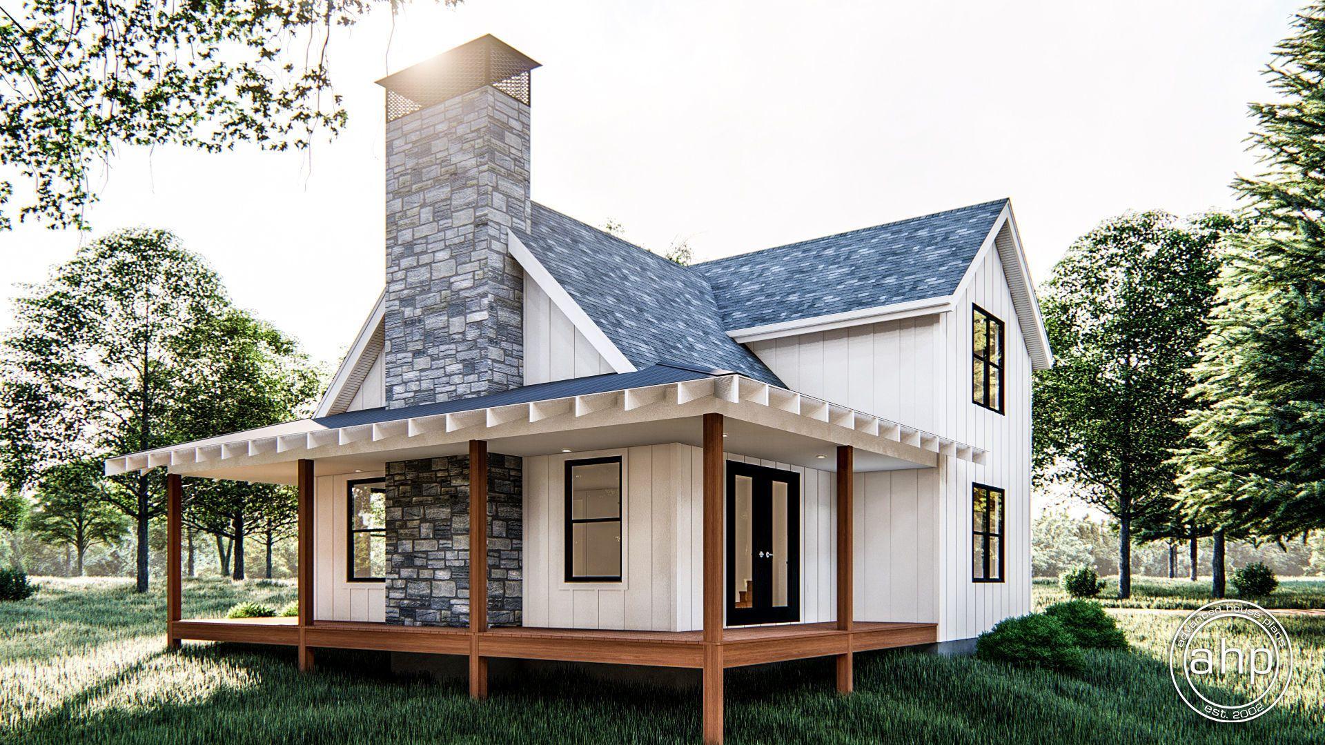 Lilly Cabin Modern Farmhouse House Plan | House plans farmhouse ...