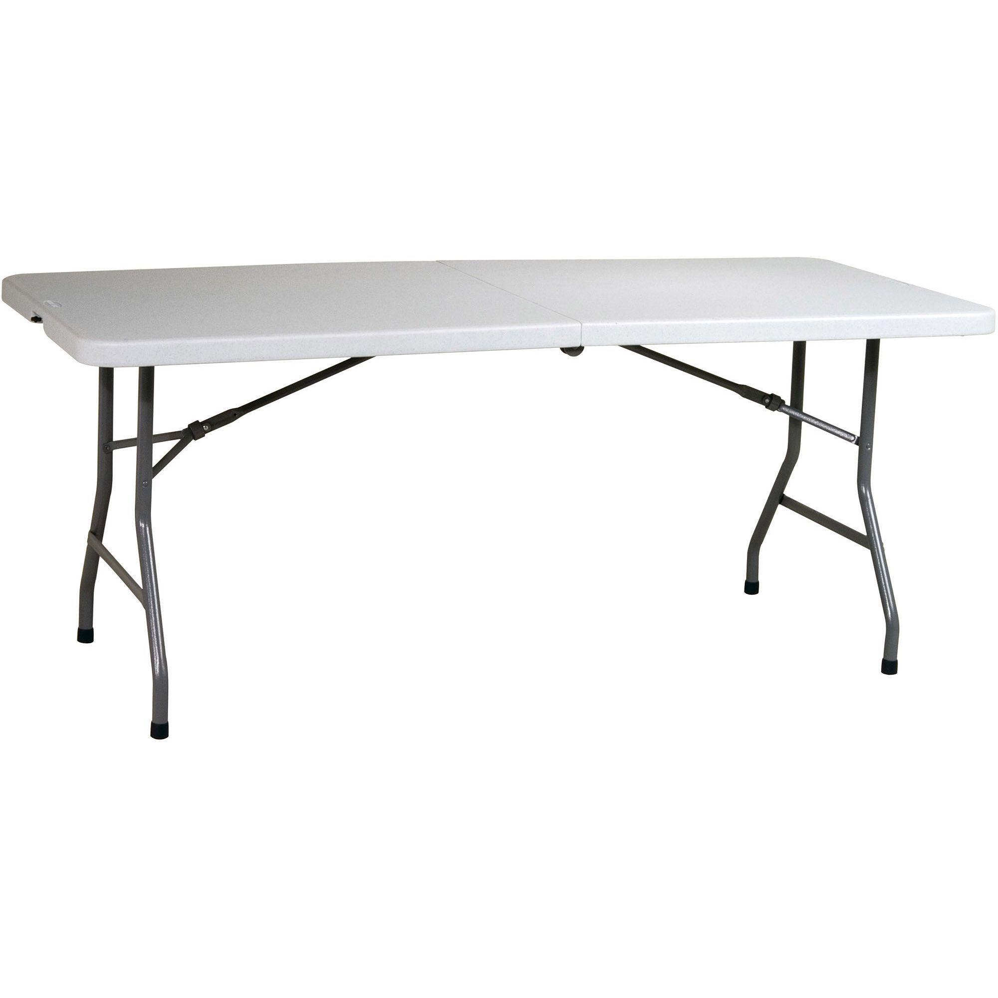 Work Smart Resin 6 Folding Multipurpose Table Light Grey With