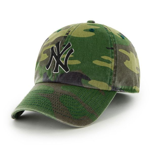 hot sale online 47450 21fbf New York Yankees  47 Brand Camo Cleanup Adjustable Hat
