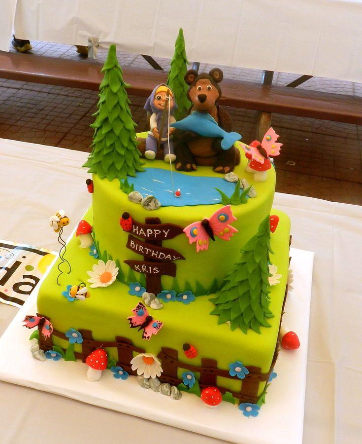 Fairy Birthday Cake Childrens Birthday Cakes Masha And Miska