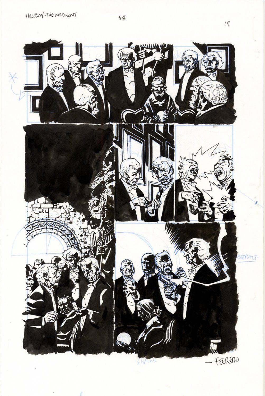 Splash Page Comic Art For Sale Artwork Hellboy The Wild Hunt