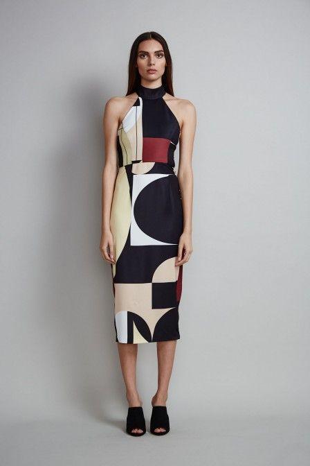 New Arrivals | Shona Joy | Rohe High Neck Midi Dress