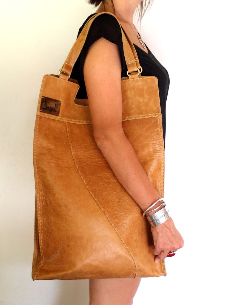 Foldover bag. Made of high quality leather. Bali, Indonesia. LOCAL ELF