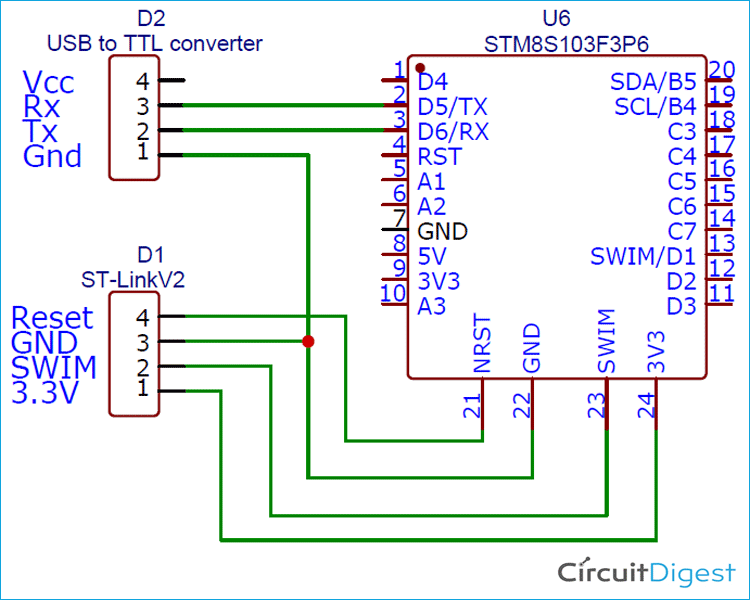 Serial Uart Communication On Stm8 Using Cosmic C And Stvd Print Read Characters And Strings In 2020 Microcontrollers Communication Beginning Writing