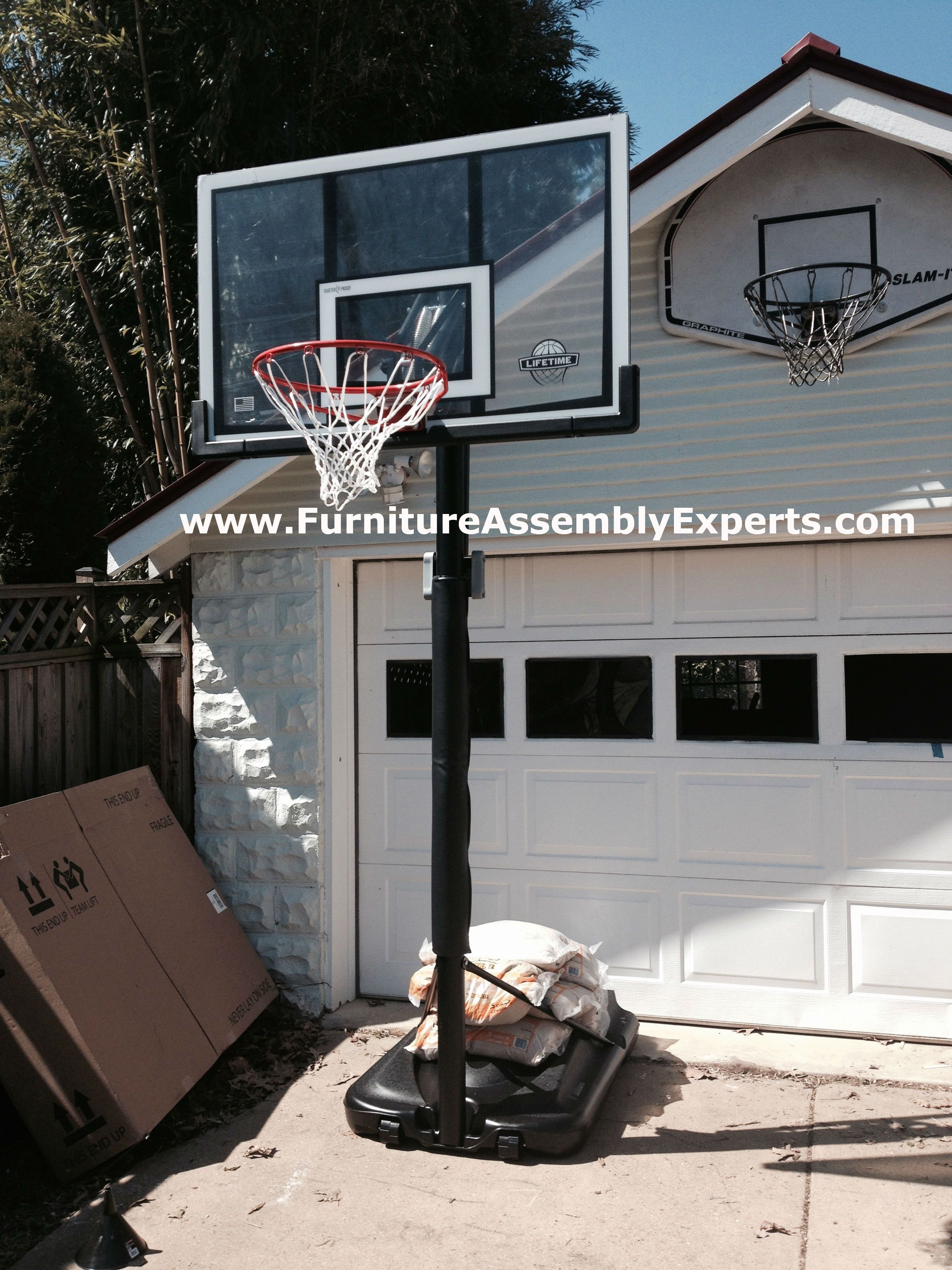 costco lifetime portable basketball hoop assembled in woodbridge va by furniture assembly experts llc