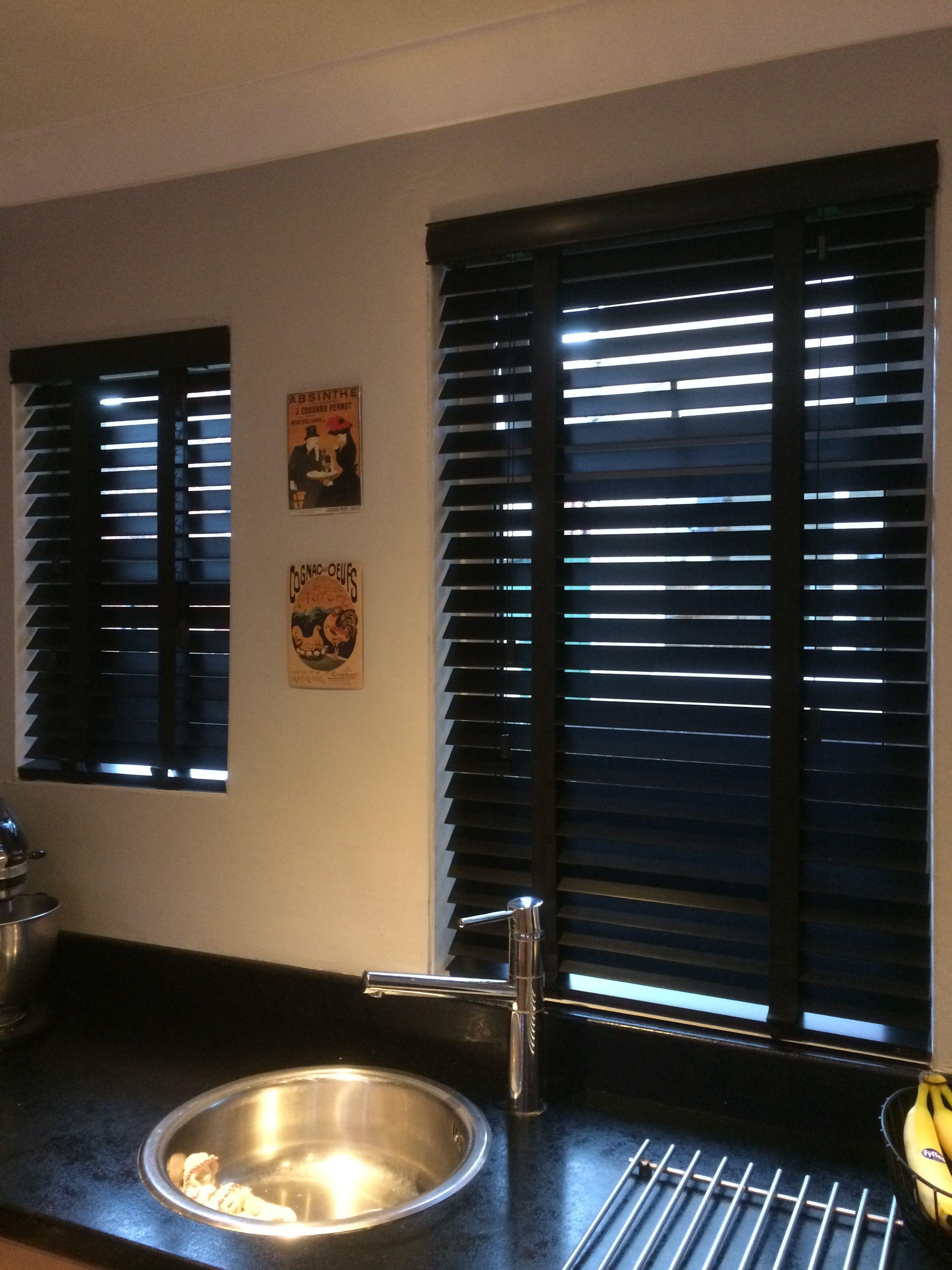 Black wooden blinds kitchen verticalblindsblackout