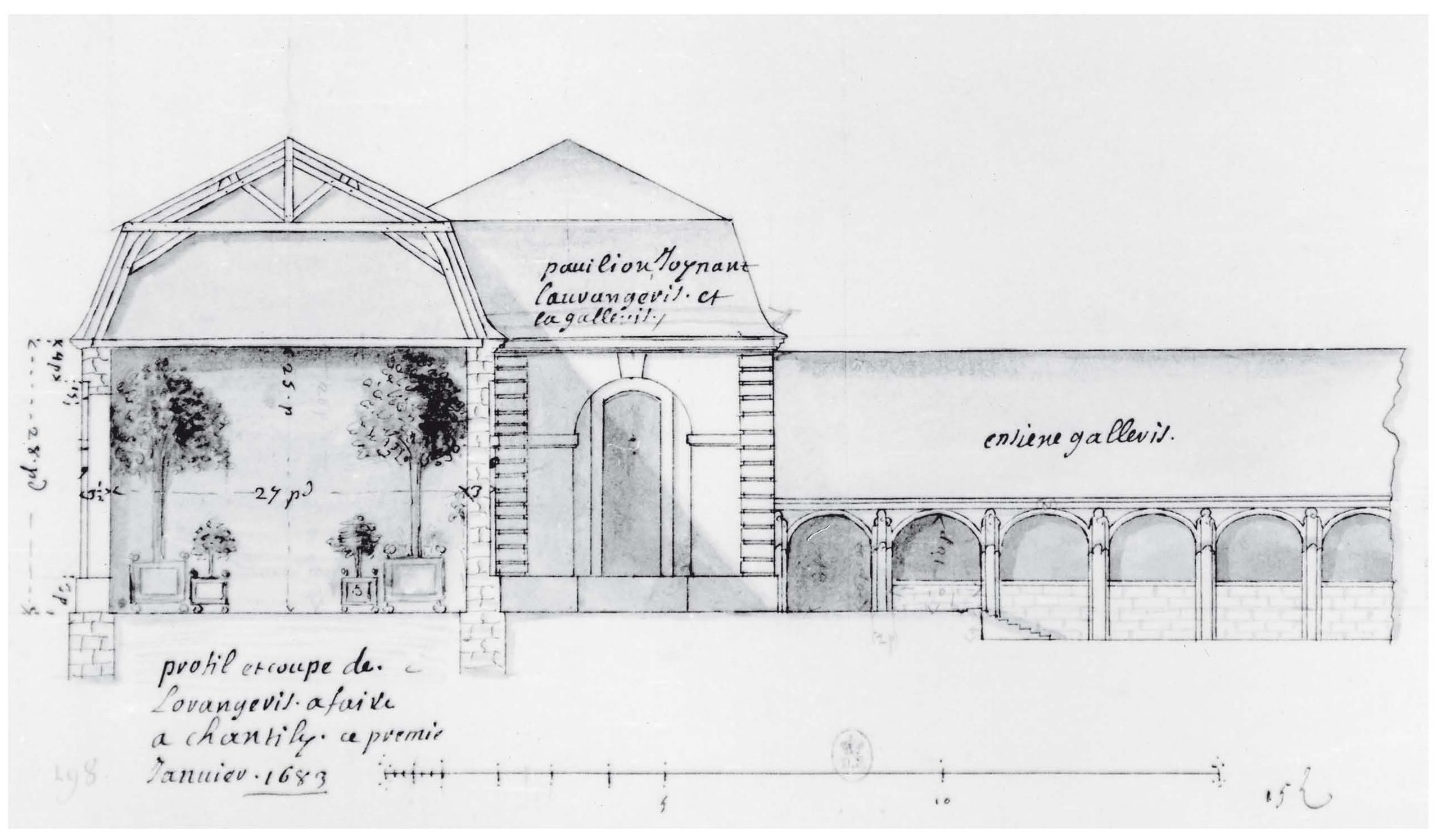 J h mansard dessin en coupe architectural drawings - Dessin en coupe ...
