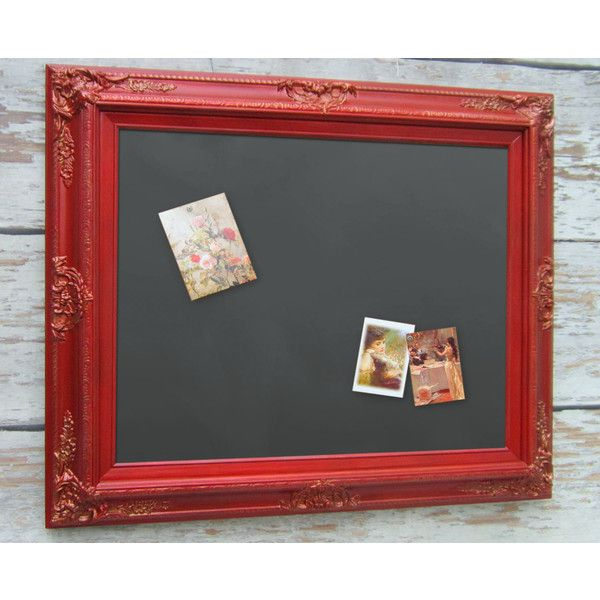 Red Room Decor Chalkboard Red 31'x27 Magnet Board Office Magnetic... (€145) ❤ liked on Polyvore featuring home, home decor, office accessories, grey, home & living, kitchen & dining, kitchen décor, magnetic cork board, wedding chalkboard and colored cork board