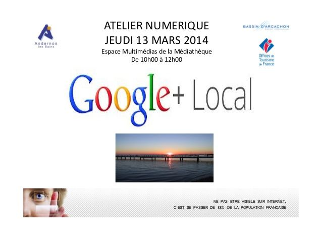 Google local 13 mars 2014 by aline inizan payen - Office de tourisme andernos ...