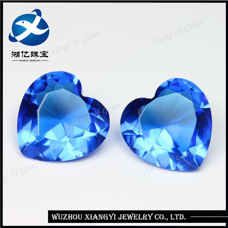 Global buyers of semi precious stones 13x13mm heart shaped blue ...