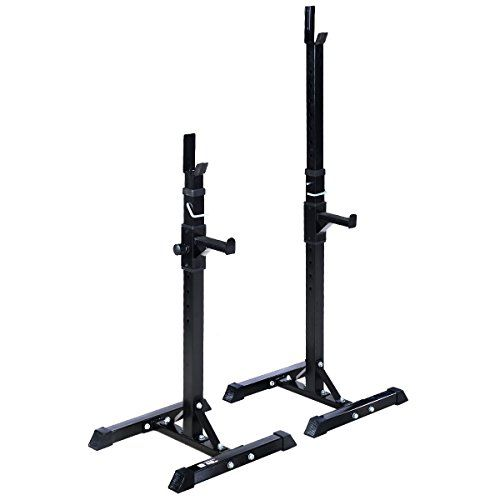 Goplus Pair of Adjustable Standard Solid Steel Squat Stands Barbell Free Press Bench >>> Click image to review more details.(This is an Amazon affiliate link and I receive a commission for the sales)