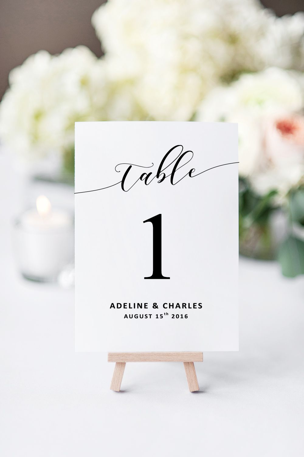 Wedding Table Numbers | Printable Table Numbers | Digital Download ...