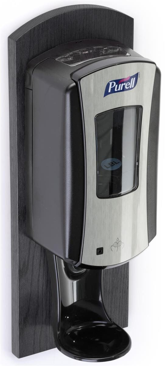 Wall Mounted Wood Hand Sanitizer Dispenser C Black 119090 Hand