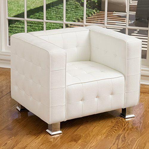 Decco Modern White Leather Club Chair Great Deal Furniture https ...