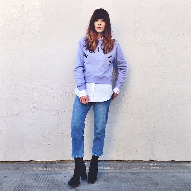 Cheer up misery guts!  Wearing three of my fave brands today, @asos @thisiswhistles & @acnestudios