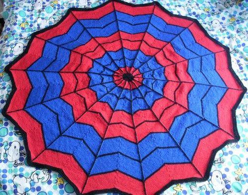 Spiderman Blanket - Free Pattern | Spiderman blanket ...