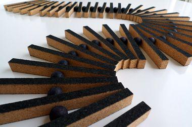 Ladder trivet made in cork by Swedish designers HETTA.
