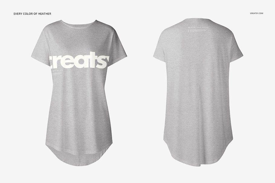 Download Womens Longline T Shirt Mockup Set Shirt Mockup Tshirt Mockup Shirt Template