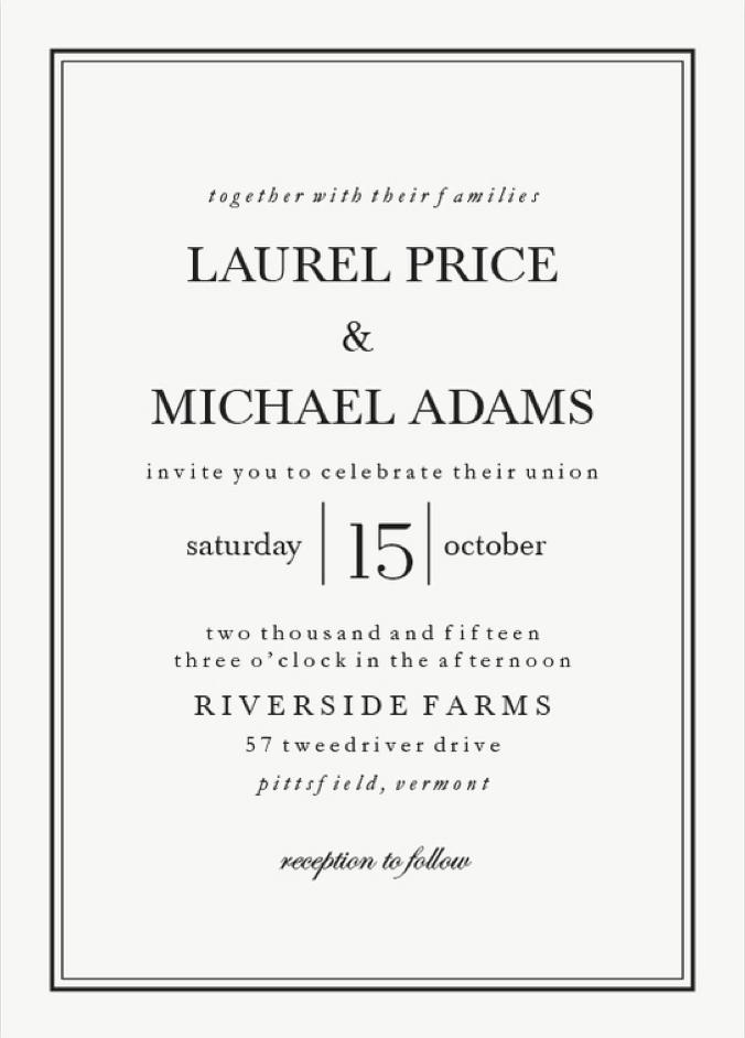 Classic Black Tie Wedding Invitations from Walmart Stationery ...
