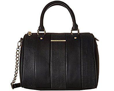 Amazon.com: Steve Madden Barrel Perf Satchel Bag: Shoes