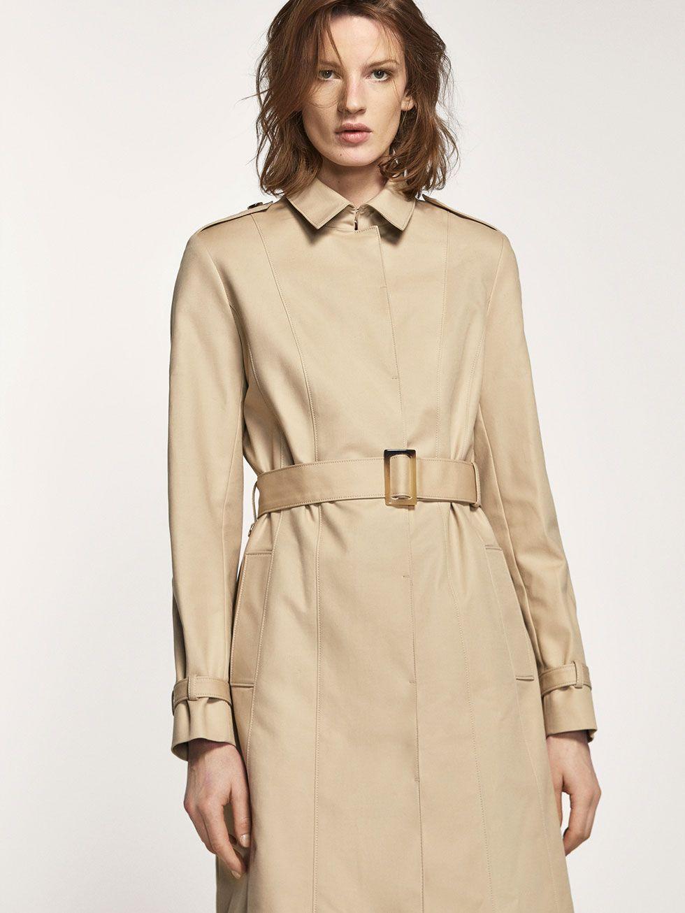trench beige pour femmes manteaux et vestes tout voir de massimo dutti pour la saison. Black Bedroom Furniture Sets. Home Design Ideas