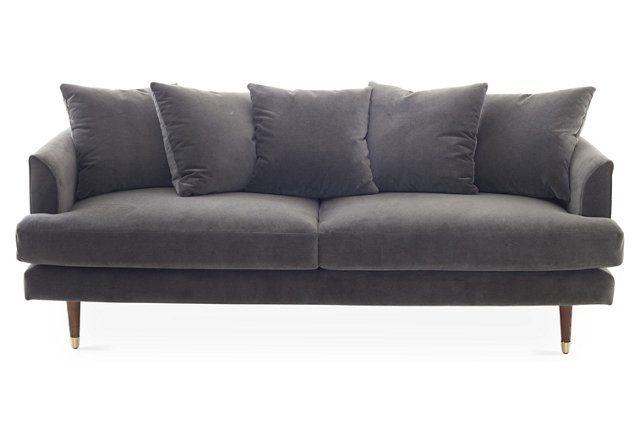 Claremont Sofa, Graphite Velvet