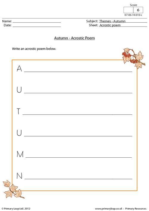Primaryleap autumn acrostic poem worksheet holiday primaryleap autumn acrostic poem worksheet spiritdancerdesigns Choice Image