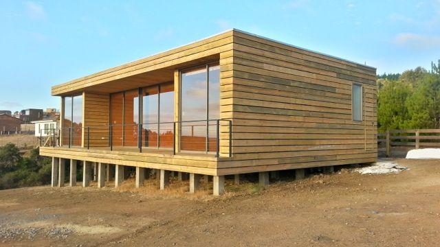 Casa playa hermosa pichilemu chile ideas de casas en for Casas de madera minimalistas