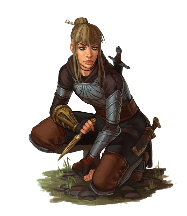 Female Human Scout Rogue Tracker Ranger - Pathfinder PFRPG