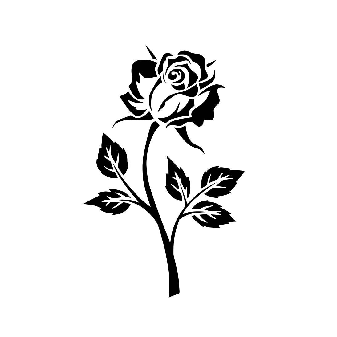 Floral Flower Plant Rose Graphics Svg Dxf Eps Cdr Ai