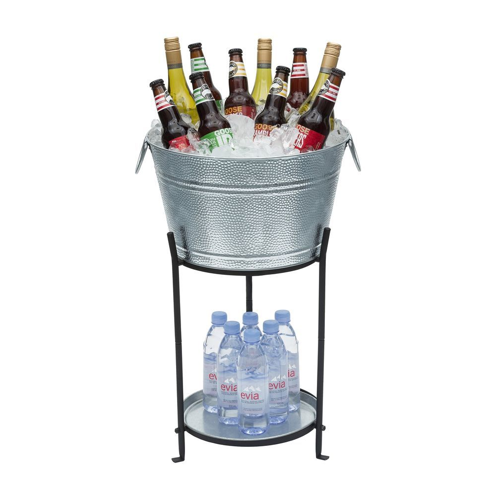 Bottle Cooler Stand Durable Ice Bucket Stand And Tray Outdoor Drinks Beer Holder Party Tub Beverage Tub Party Bucket