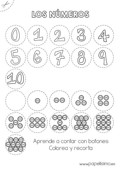 Numeros Y Botones Aprende A Contar 1 Matematika Numero Para