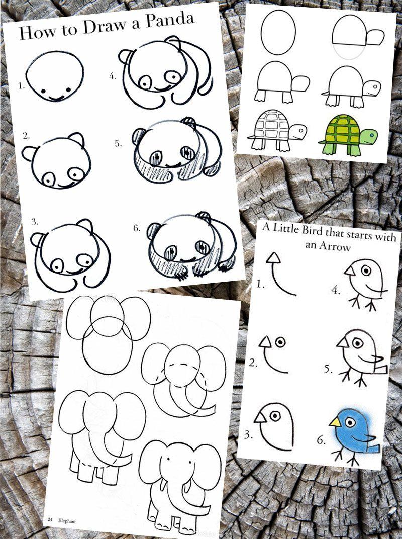 how to draw cartoon animals | チョークアート、ボールペン、描き方