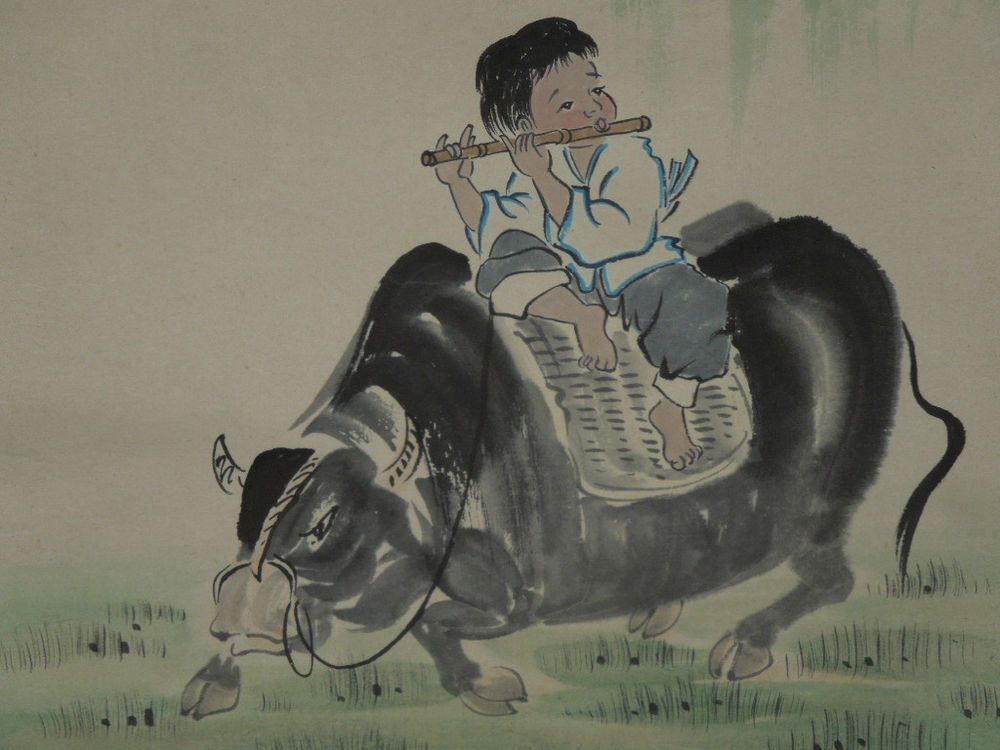 Scroll Antique Asian Paintings Bamboo