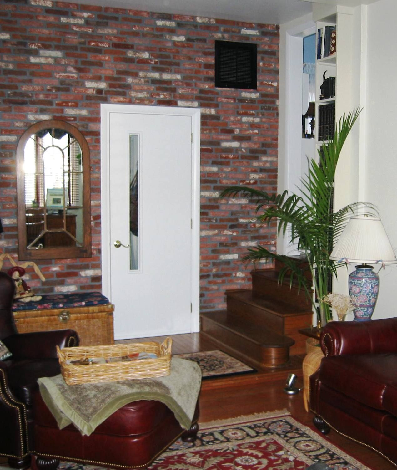 Brick tile family room wall with extra black and white in the color brick tile family room wall with extra black and white in the color mix or contrast dailygadgetfo Images