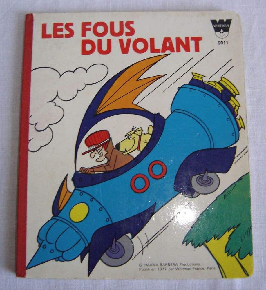 Vintage french book wacky races hanna barbera les fous du
