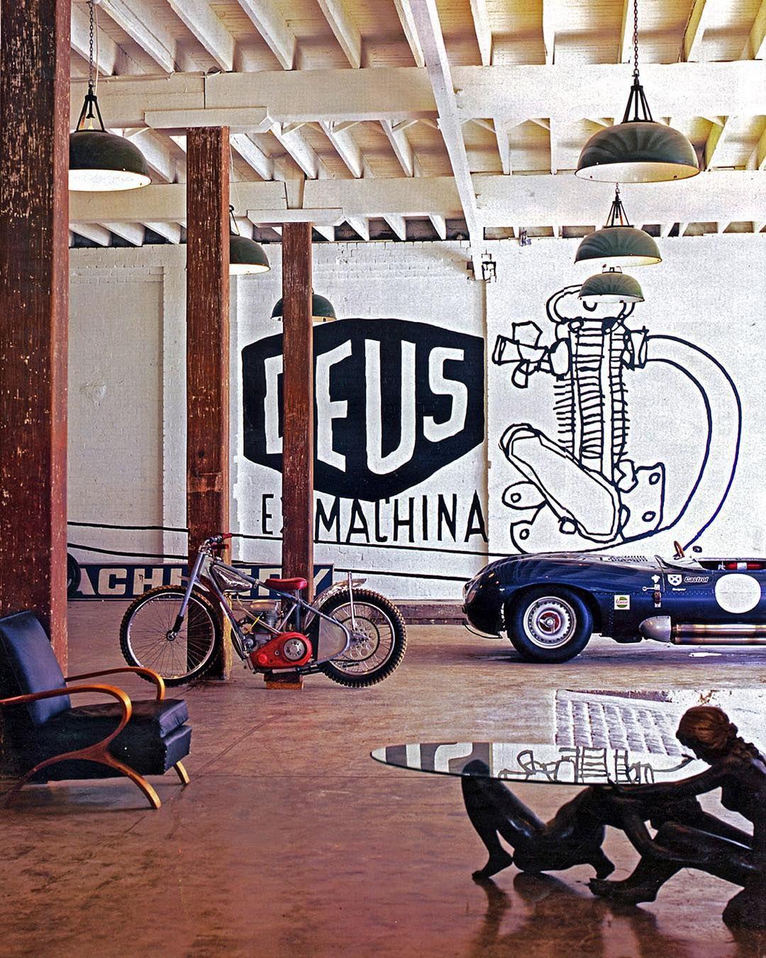 deus ex machina workshop garage studio set up. Black Bedroom Furniture Sets. Home Design Ideas